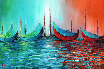 Painting - Reflecting Down by Preethi Mathialagan