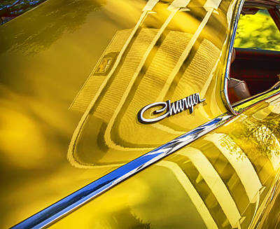Photograph - Reflecting On A Dodge Charger by Theresa Tahara