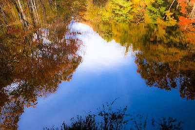 Photograph - Reflecting On Autumn In North Georgia by Mark Tisdale
