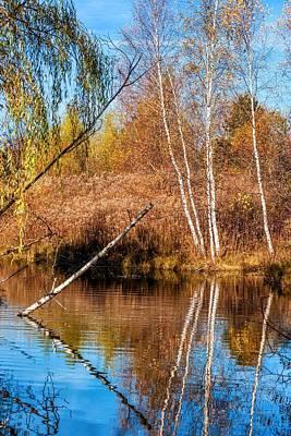 Autumn Photograph - Reflecting On Autumn by Steve Harrington