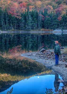 Photograph - Reflecting On Fall Foliage Reflection by Jeff Folger