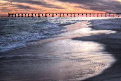 Navarre Beach Photograph - Reflecting On Navarre Beach by JC Findley