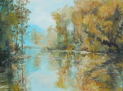 Painting - Reflecting On Reflections by Elizabeth Crabtree