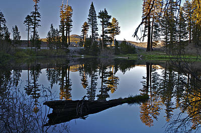 Photograph - reflecting pond 5 Carson Spur by SC Heffner
