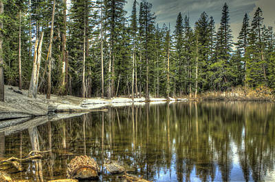 Amador County Photograph - reflecting pond Carson Spur by SC Heffner