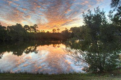 Digital Art - Reflecting Pond by Michael Thomas