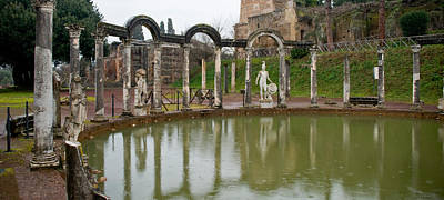 Ancient Civilization Photograph - Reflecting Pool In Hadrians Villa by Panoramic Images
