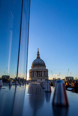 Photograph - Reflecting St Pauls by Andrew Lalchan