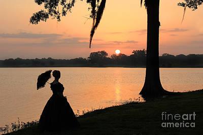 Reflecting Sunrise Belle Art Print by Leslie Kirk