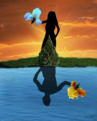 Reflecting Art Print by Torie Tiffany