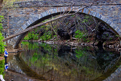 Reflecting While Fishing Art Print by Tom Gari Gallery-Three-Photography