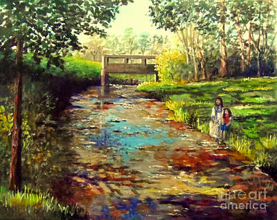 Painting - Reflecting With The Master by Lou Ann Bagnall