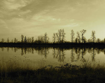 Reflection - Ankeny Wildlife Refuge Art Print