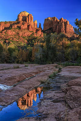 Reflection At Red Rock Crossing Art Print by Medicine Tree Studios