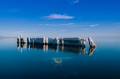 Photograph - Reflection At Salton Sea by Ralph Vazquez