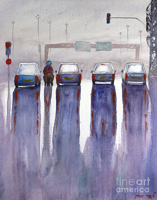 Painting - Reflection At The Intersection by Lior Ohayon