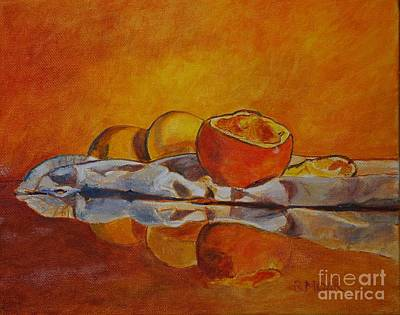 Tangerine Painting - Reflection by Barbara Moak