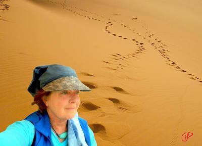 Selfportrait Photograph - Reflection Desert Time Egypt by Colette V Hera  Guggenheim