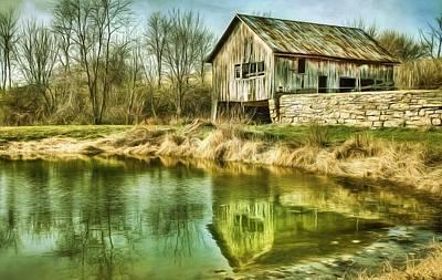 Barns Digital Art - Reflection II by Sharon Batdorf
