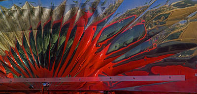 Side Panel Photograph - Reflection In A Taco Truck by Scott Campbell