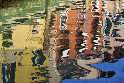Reflection In A Venician Canal Art Print