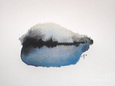 Abstract Landscapes Painting - Reflection In The Lake by Vesna Antic