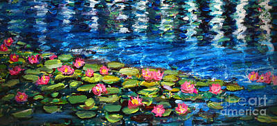 Lilly Pond Painting - Reflection In The Llly Pond by Rita Brown