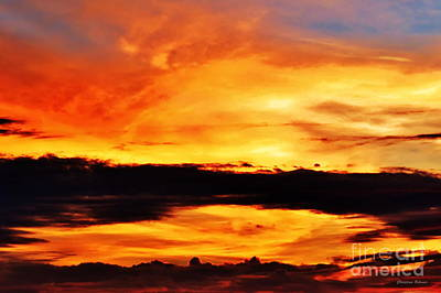 Skyscape Photograph - Reflection In The Sky - Little Grass Valley Reservoir by Christina Ochsner