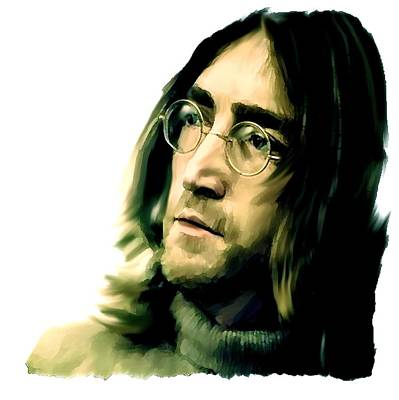 John Lennon Artist David Pucciarelli Painting - Reflection John Lennon by Iconic Images Art Gallery David Pucciarelli