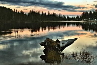 Photograph - Reflection Lake Sunset by Adam Jewell