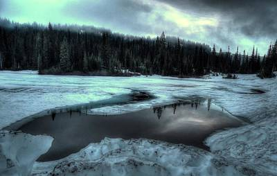 Photograph - Reflection Lake Thaw by Peter Mooyman