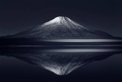 Volcano Photograph - Reflection Mt. Fuji by Takashi Suzuki