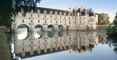 Reflection Of A Castle In A River Art Print