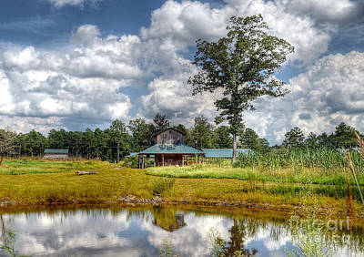 Photograph - Reflection Of A Farm House by Kathy Baccari