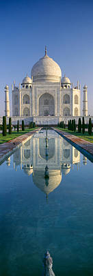 Featured Images Photograph - Reflection Of A Mausoleum On Water, Taj by Panoramic Images