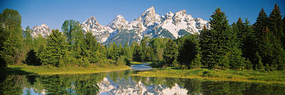Teton Photograph - Reflection Of A Snowcapped Mountain by Panoramic Images