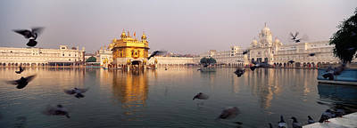 India Religion Photograph - Reflection Of A Temple In A Lake by Panoramic Images