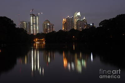 Photograph - Reflection Of Atlanta Skyline  by Willie Harper