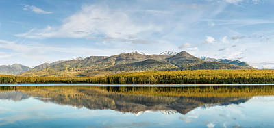 Chugach Mountains Photograph - Reflection Of Chugach Mountains by Panoramic Images