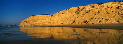 Lagos Photograph - Reflection Of Cliff On Water, Lagos by Panoramic Images
