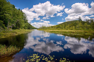 Reflection Of Clouds In Oxbow Lake Art Print by Panoramic Images