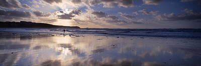 Reflection Of Clouds On The Beach Art Print by Panoramic Images