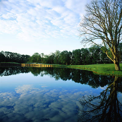 Maryland Photograph - Reflection Of Clouds On Water by Panoramic Images