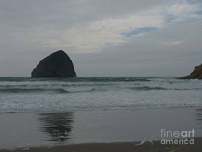 Photograph - Reflection Of Haystock Rock  by Susan Garren