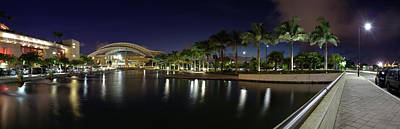Puerto Rico Photograph - Reflection Of Lights On Water, Puerto by Panoramic Images