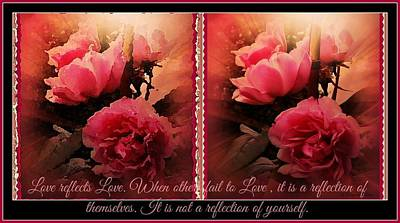 Digital Art - Reflection Of Love by Maryann  DAmico