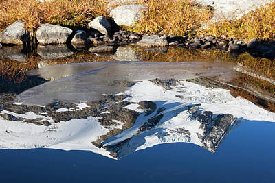 Zaun Photograph - Reflection Of Mount Hoher Zaun by Martin Zwick