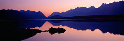 Reflection Of Mountains In Water, Upper Art Print