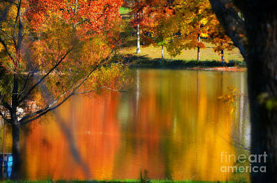 Autumn Peggy Franz Photograph - Reflection  Of My Thoughts  Autumn  Reflections by Peggy Franz