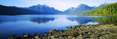 Physical Geography Photograph - Reflection Of Rocks In A Lake, Mcdonald by Panoramic Images